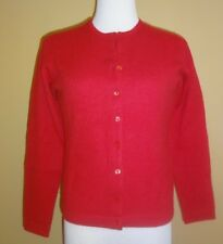 Women's Sutton Studio at Bloomingdale's Cashmere Red Cardigan Sweater Set size S