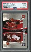 LeBron James Michael Jordan 2005 Upper Deck Bonus Basketball Card #LJMJ6 PSA 9