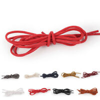 Unisex Round Solid Color Shoelaces Shoes Strings Boot Sport Shoes Laces Cord
