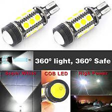 2 x 12W T15/W16W LED Bulbs 921 T10 T15 Backup Reverse LED Projector Lights Bulbs