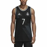 adidas Official Licensed Real Madrid Men's Tank Top Black White [CW8708]
