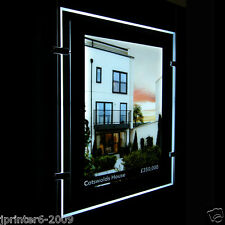 A4 Double Sided LED Window Light Pocket Panel Estate Agent Display Portrait