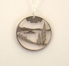 Oregon, Cut-Out Coin Jewelry, Necklace/Pendant