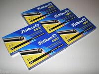 5 x 5 Pelikan Tintenpatronen 4001 schwarz GTP/5 Füller-Patronen Großraum NEU