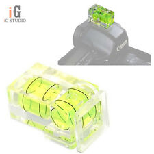 Hot Shoe Two Axis Double Bubble Spirit Level Mount For Camera Slr Dslr Canon