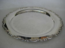 "Oneida Silver Plate Serving Tray, 15"" Diameter"