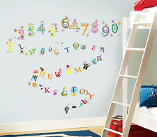 Combo Kid's Boys Girls Owls 123 + Zoo ABC Nursery Room Children Wall Stickers
