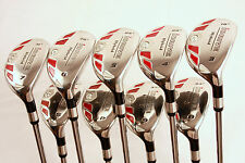 NEW MENS HYBRIDS 3 4 5 6 RESCUE RIGHT UTILITY SET HALF GOLF CLUBS JUMBO GRIPS