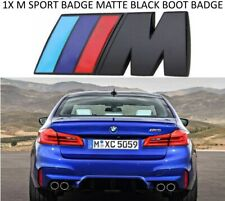 1X BLACK M SPORT METAL REPLACEMENT BMW LOGO BADGE BOOT STICKER M2 M3 M4 M5 M6