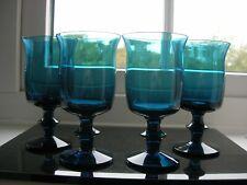 """Kosta Boda - Bertil Valliens - Four """"Afors Bruk""""  Wine Glasses - C1955"""