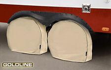 "Goldline Premium RV Tire Wheel Cover (Set of 2) Tan Fits 24"" - 26"" Inch Tires"