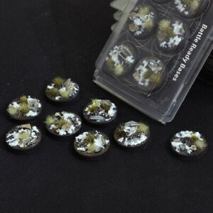 Gamer's Grass Winter Bases Round 32mm (8) NEW PRO PAINTED Base