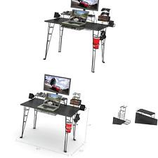 """Atlantic Gaming Desk Multi Function - 32"""" TV Stand, Charging Station, Speaker..."""