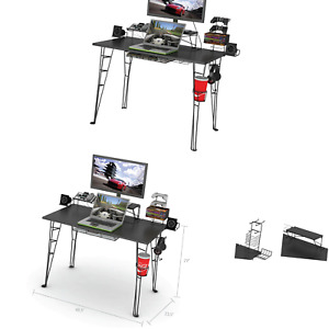 "Atlantic Gaming Desk Multi Function - 32"" TV Stand, Charging Station, Speaker..."