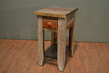 Rustic solid wood Side Table with drawer End table Nightstand