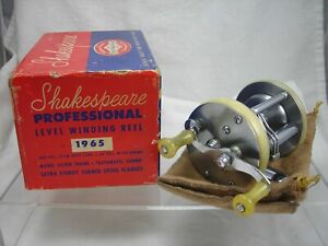 Vintage Used Shakespeare Professional 1965 Model FK Fishing Reel with Box Etc
