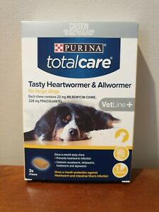 Purina Total Care Tasty Chew Heart Wormer & All Wormer (22-45kg) LARGE Dogs