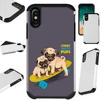 FusionGuard For iPhone 6/7/8 PLUS/X/XR/XS Max Phone Case SKATE PUG DOG