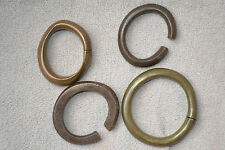 4 mid 20th century African tribal bronze Manillas / Currency Bracelets, c 1950