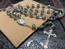 Blessed Jerusalem Soil Rosary Champagne Crystal Holy Sepulchre 2018