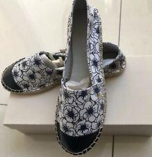 Armani Espadrilles Shoes Size 40 White Navy Floral New RRP £140.00