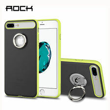 Rock Case for iphone 7 Plus Magnetic 3D Ring Holder Kickstand Phone Case-Black