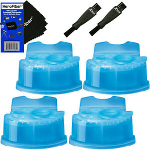 Braun Clean & Renew Refill Cartridges (4 pack) + Shaver Brush + HeroFiber