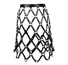 Chain Skirt Bondage Punk Rocker Goth Avant Garde Goth Women's Dress Stage