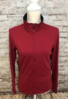 Women's LUCY Sz M Deep Red Long Sleeve Full Zip Stretch Jacket