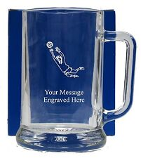 Personalised Football Pint Glass Tankard Birthday Free Gift Box GT14