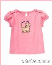NWT Gymboree Size 12-18  SMART KITTIES Cat Pink Bow Short Sleeve Shirt Top