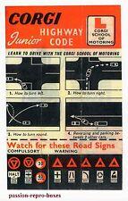 CORGI TOYS 236 255 : Notice instruction AUSTIN A60 SCHOOL HIGHWAY repro copie