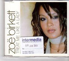 (FM952) Zoe Birkett,  Treat Me Like A Lady - 2003 DJ CD