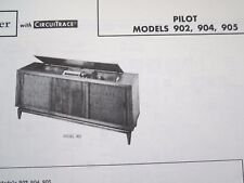 PILOT 902, 904, & 905 PHONOGRAPH - RADIO PHOTOFACT