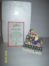 THE SIMPSONS CHRISTMAS EXPRESS TRAIN  THE BuLLY EXPRESS Hamilton Collection MINT