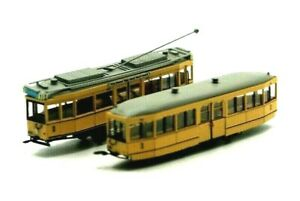 Straßenbahn  Modell Spur N Fa. Fröwis Berlin Typ TM34 + Beiwagen BM 28/37