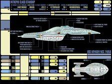 A4 Poster: Star Trek Voyager Panel de control (imagen Arte De La Nueva Generación)