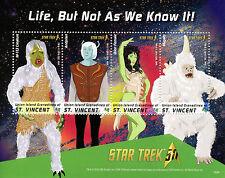 Union Island Gren St Vincent 2016 MNH Star Trek 50th 4v M/S Mugato Stamps
