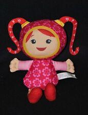 Peluche doudou poupée FISHER PRICE MATTEL 2011 rose trèfle chiffres 22 cm TTBE