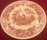 """Spode Archive Collection Georgian Series GIRL AT WELL 11 1/2"""" Cake Plate EUC"""