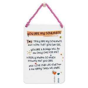 WPL Tin Plaque You Are My Soulmate - New - IWG0910