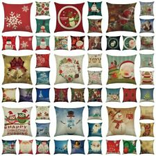 Bedroom Christmas Party Decor Sofa Case Cushion Cover Square Throw Pillow Car