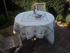 Tischdecke Provence 170x170 cm creme Törtchen Jacquard Gobelinart aus Frankreich