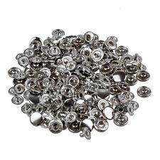 50 Set Metal No Sewing Press Studs Buttons Snap Fastener 10mm B7X5