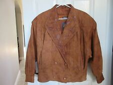 Vintage Adventure Bound Leather Bomber Thinsulate Jacket By WILSONS Men's Small