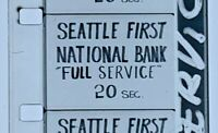"Advertising 16mm Film Reel- Seattle First National Bank ""Full Service"" (SB51)"