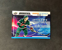 2019-20 UPPER DECK CREDENTIALS NICO STURM ROOKIE SCIENCE AUTO #RS-30
