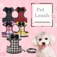 Dog Harness Leash Set Pet Cat Vest Harness with Bowknot Mesh Padded For Puppy·