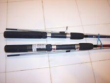 2 OKUMA 5ft 6in 165cm SPIN ROD #3442 & #3426 FISH POLE SLR-562-30 BLUE & MAROON