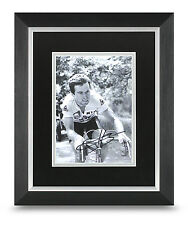 Bernard Hinault Signed 10x8 Photo Display Framed Cycling Memorabilia Autograph